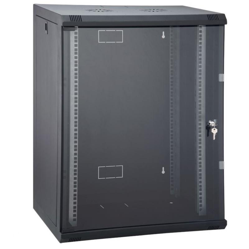 16U 600x450 mm Duvar Tipi Kabinet Yan Kapakları Açılabilen