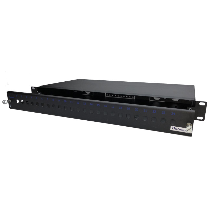 "19"" 1U 12 Port ST SX Kendinden Kızaklı Raysız Fiber Optik Patch Panel"