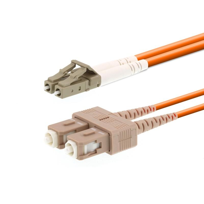 SC/PC-LC/PC Multi Mode LSZH Duplex Patchcord-1m