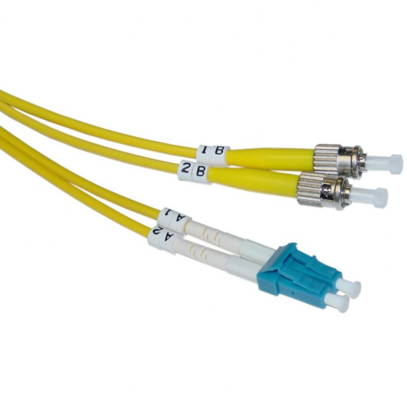 LC/PC-ST/PC Single Mode 9/125 Duplex Patchcord-10m