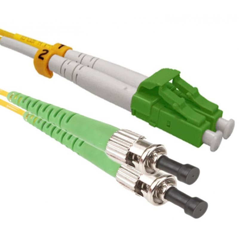 LC/APC-ST/APC Single Mode Duplex LSZH Patchcord-1m