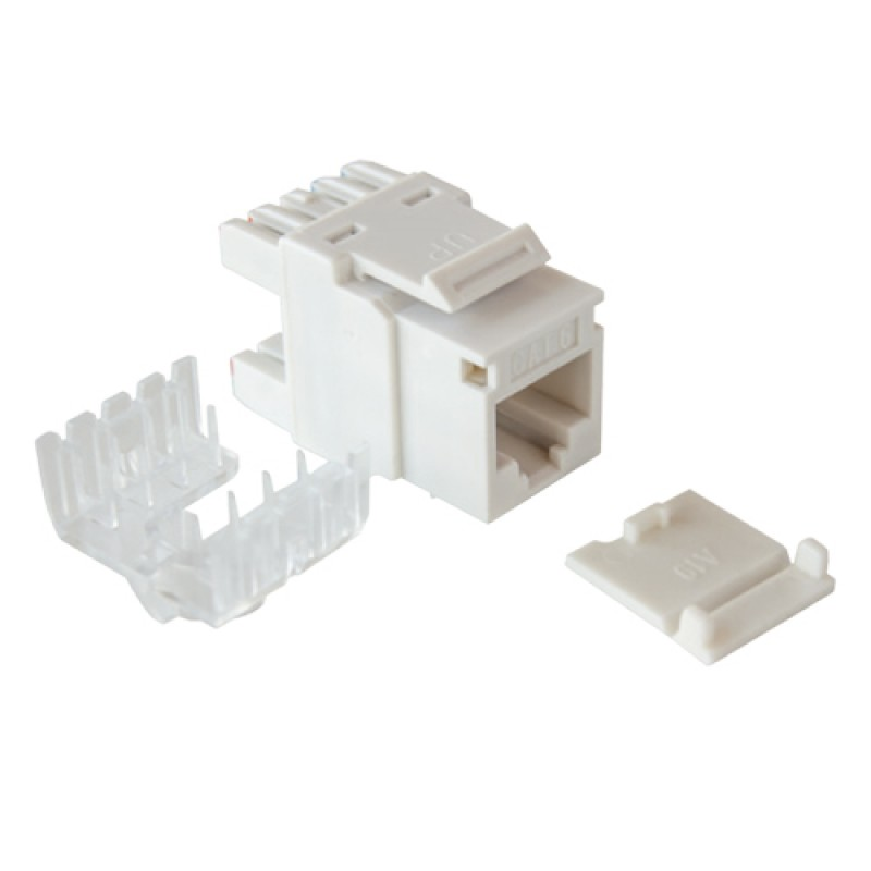 Cat-6 UTP Keystone jack module, (White),180