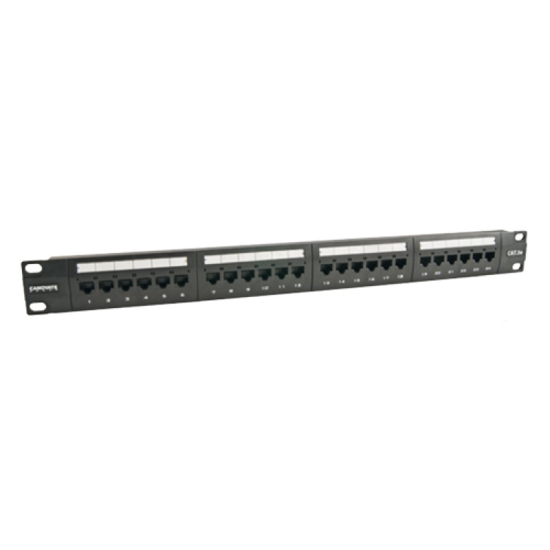 24 Port Cat-5e UTP Patch Panel, 1U 19'', loaded, (...