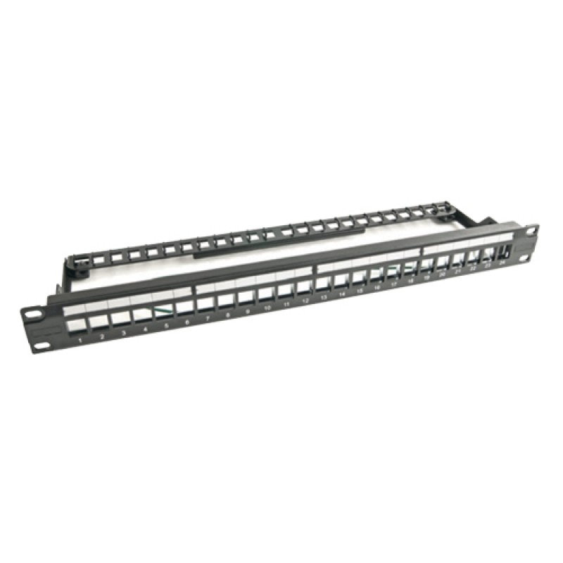 24 Port Keystone Jack UTP Patch Panel, 1U 19'', un...