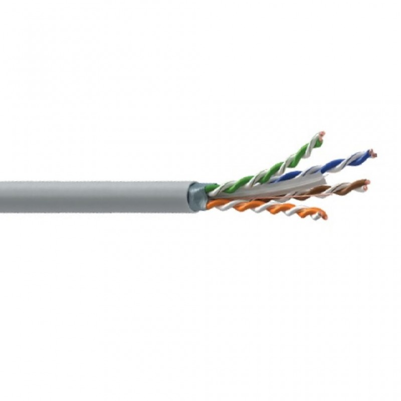 Cat-6 U/FTP Cable, PVC, (Grey), 305m Reel